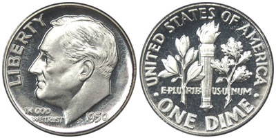 1950 Proof Roosevelt Dime