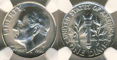 1996-W Roosevelt Dime