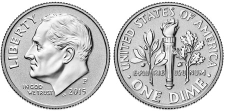 2015 Reverse Proof Roosevelt Dime