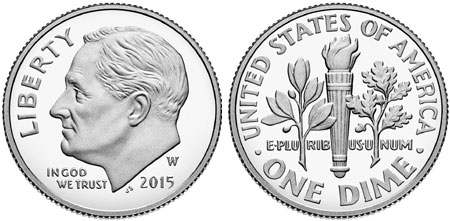 2015-W Silver Proof Roosevelt Dime