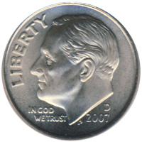 Key date 1948-D Roosevelt 90/% Silver Dime.